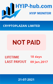 www.hyip-hub.com - hyip cryptoplazan ltd